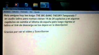 descargar the big bang theory temporada 7 en audio latino