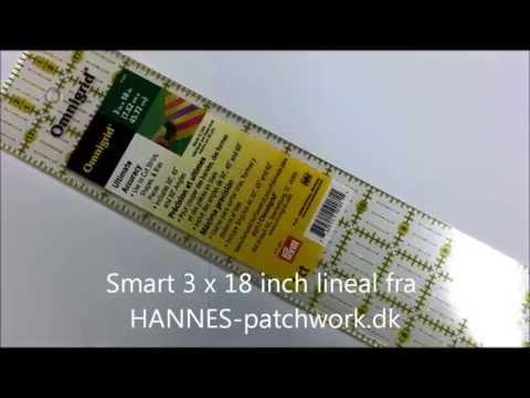 3x18 Inch Patchworklineal Fra HANNES Patchwork