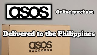 ASOS Sneaker purchase delivered to the Philippines
