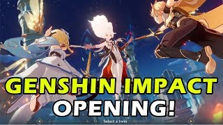 Genshin Impact Opening Cutscene English