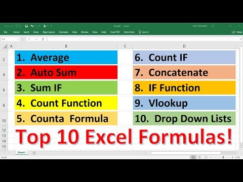 Top 10 Most Important Excel Formulas - Made Easy!