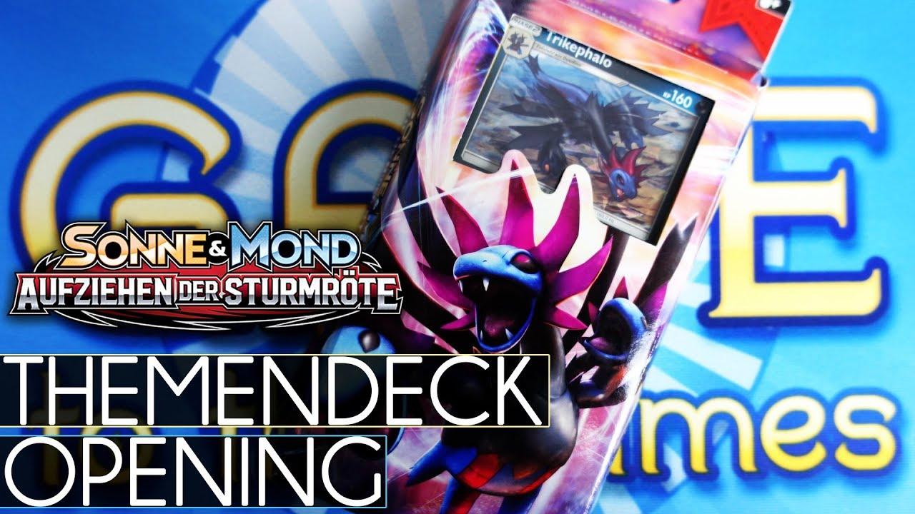 Aufziehen der Sturmröte Pokemon SM4 Deutsch 1 Themendeck Trikephalo
