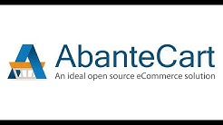 AbanteCart v1.2 Ecommerce Application Introduction Video. Shopping Cart Demo