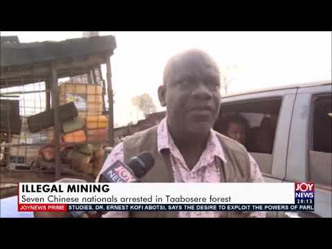 CHINESE ILLEGAL MINERS ARRESTED AT TAABOSERE FOREST IN GHANA