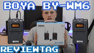 Budget Professional Wireless Microphone System under £150 - BOYA BY-WM6