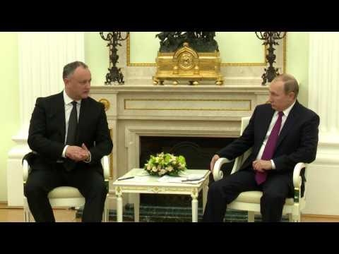 Întrevederea oficială dintre Igor Dodon și Vladimir Putin