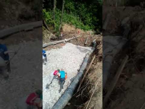 Укладка бетонного отсева