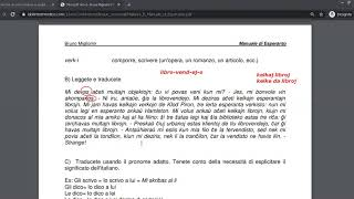 Corso di esperanto per italofoni. Lezione 15 (parte 1). 16/06/2020.
