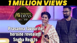 Jfw Golden Divas 2018 - Prasanna favourite heroine revealed! Sneha Reacts