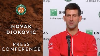 Novak Djokovic - Press Conference after Final | Roland-Garros 2020