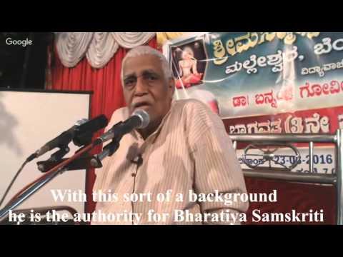 Dr. Bannanje Govindacharya speaks on Sheldon Pollock