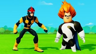 Мультик игра для детей про супергероя Нова, Синдрома из Суперсемейки и Тачки Дисней Disney