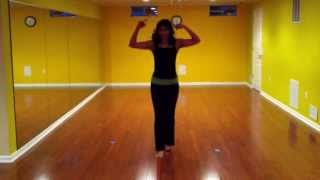radha on the dance floor practice video