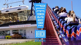 Blackpool Pleasure Beach Summer 2021   Park Footage 4K
