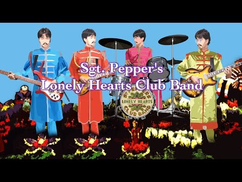 Sgt. Pepper's Lonely Hearts Club Band ~ With A Little Help From ... - The Beatles karaoke cover