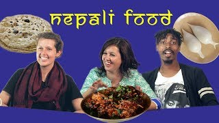 FOREIGNERS TRY NEPALI FOOD|| THE RANDOM SHOW ||