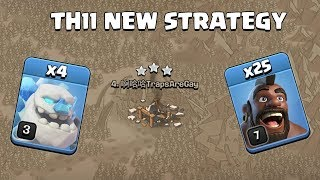 4 ICE GOLEM + 25 HOG | TH11 NEW WAR ATTACK STRATEGY Clash of Clans - COC
