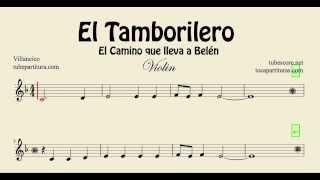 El Tamborilero Partitura de Violin El Camino que lleva a Belén The Little Drummer Boy