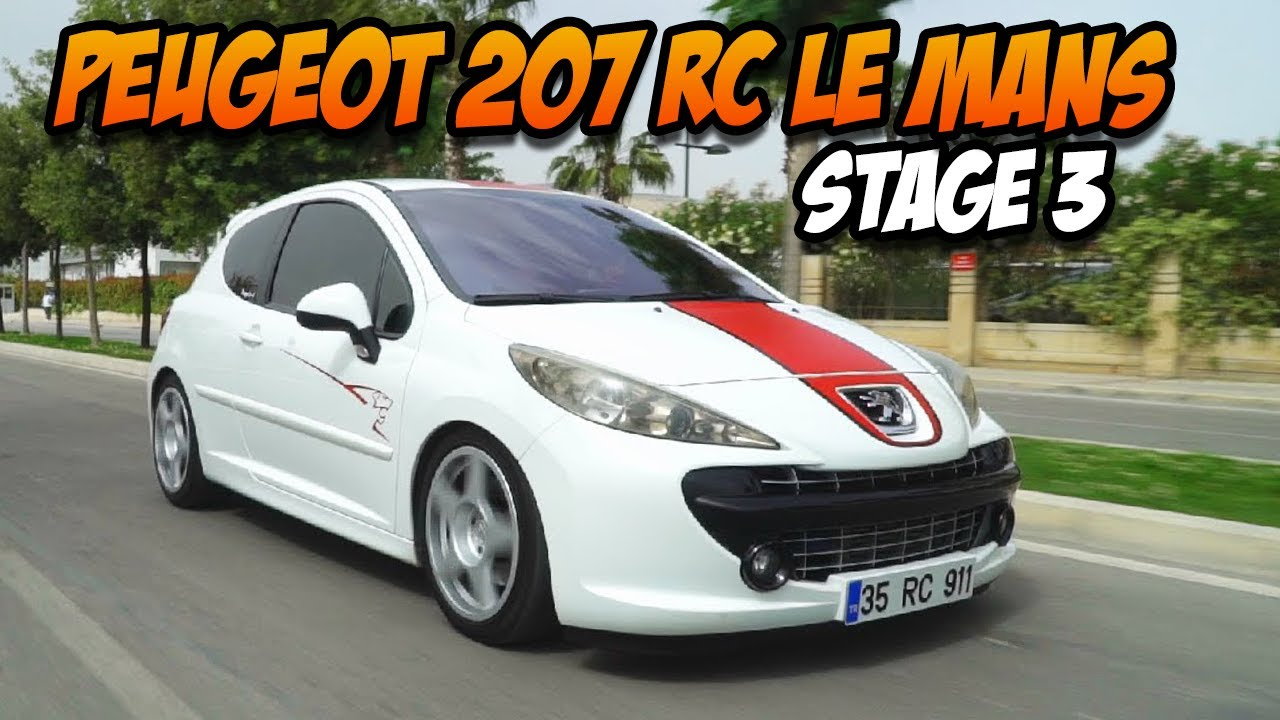 peugeot 207 rc le mans test s r stage 3 youtube. Black Bedroom Furniture Sets. Home Design Ideas