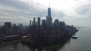 NYC, Lower Manhattan and Hudson River Drone Aerials by DAHBOO7