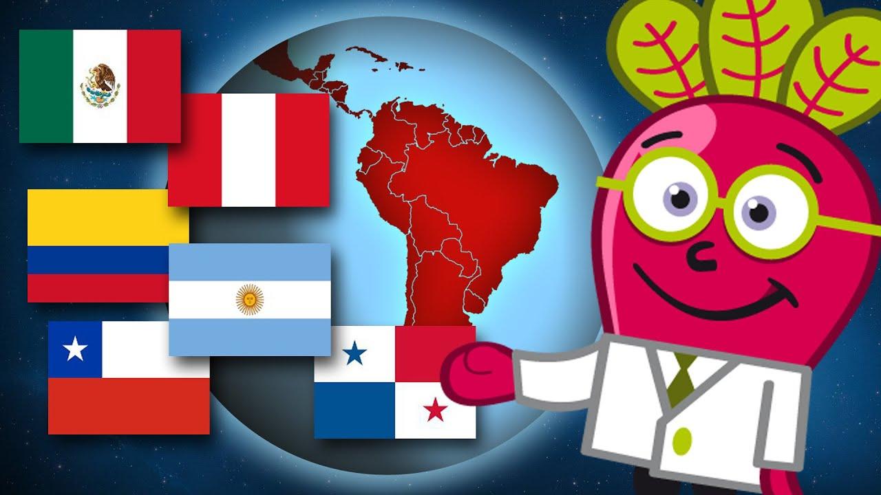 LATINOAMERICA Paises Capitales Banderas Geo Mundo Para