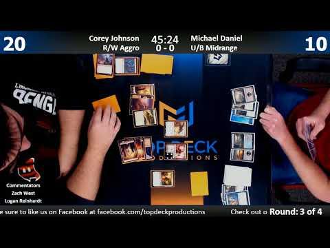 Standard w/ Commentary 1/31/18: Corey Johnson (R/W Aggro) vs. Michael Daniel (U/B Midrange)