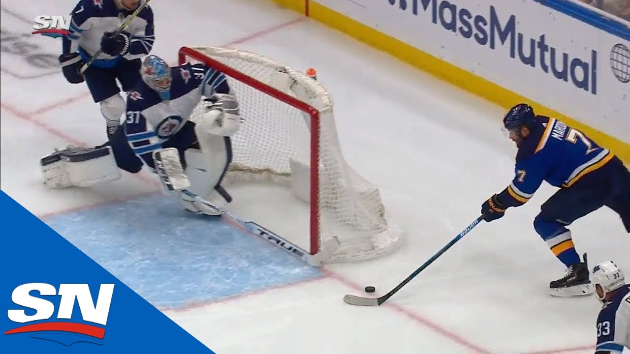 Connor Hellebuyck Recovers After Huge Error, Then Brandon Tanev Silences Blues' Fans