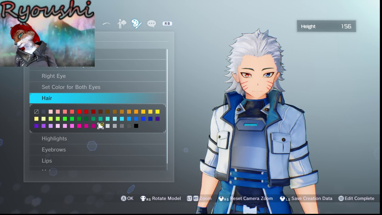 Sword Art Online:Fatal Bullet male character creation