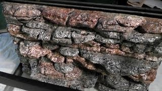Rock Wall background tutorial for lizard cage -slate rock
