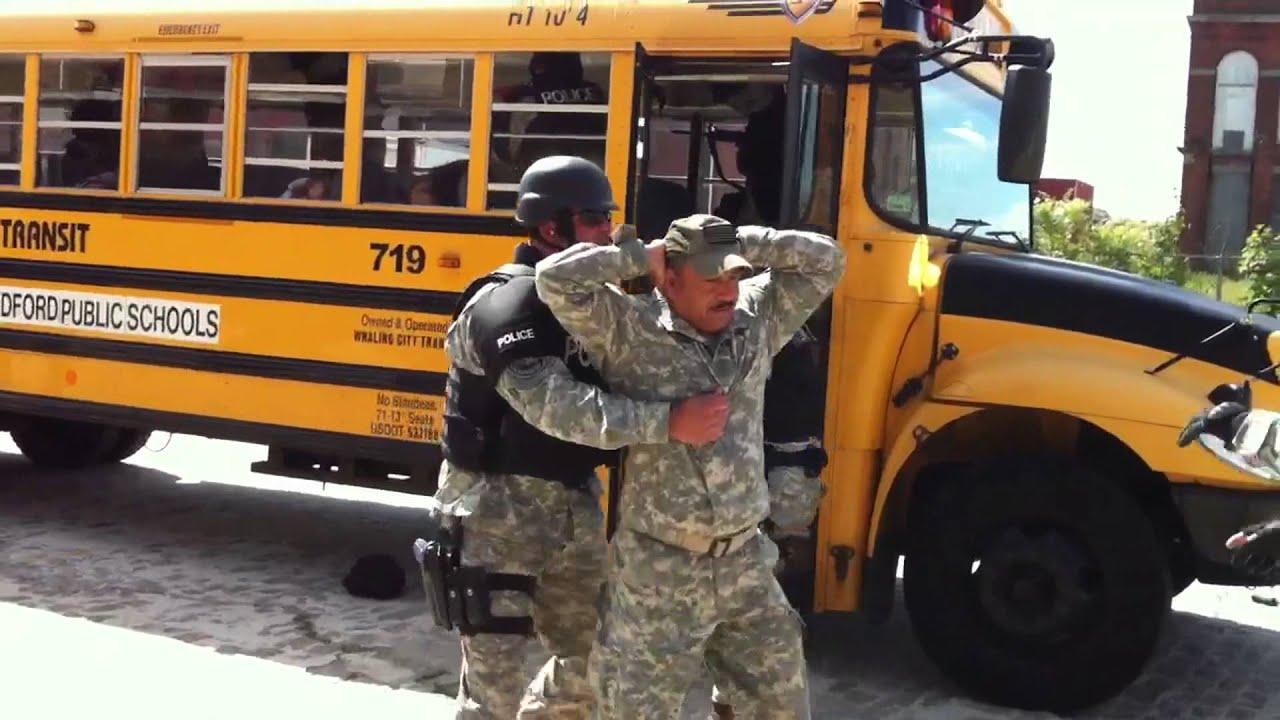 New Bedford Police practice crisis response on school bus