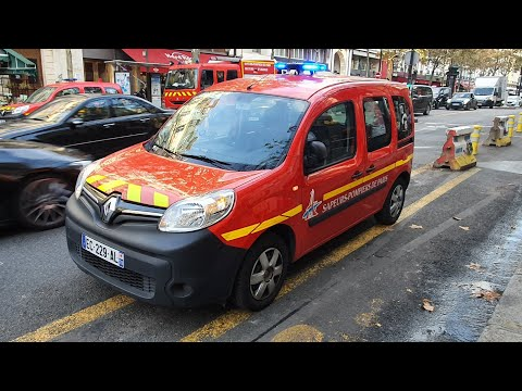 Pompiers de Paris Compilation ( SPVL ; Voitures  Officiers ) en Urgence