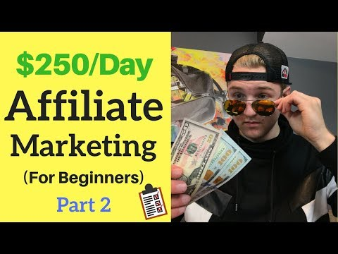 How To: $250/Day With Affiliate Marketing For Beginners (Part 2 – My Tactics)