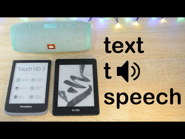 Text-to-speech na Kindle Paperwhite 4 i Pocketbook Touch HD 3