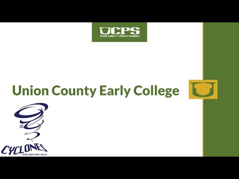Union County Early College Overview