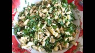 Холодные закуски мясные:Мясо на косточке с начинкой из сыра,орехов и зелени
