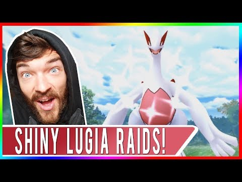OMG TWO SHINY LUGIA RAIDS IN A ROW! Shiny Lugia Raiding at EX Gyms! Ultra Rare Hunting!