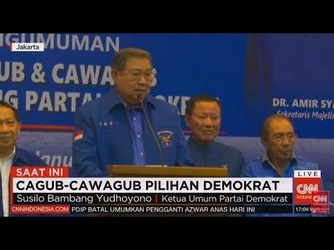 FULL- SBY Mengumumkan Cagub - Cawagub Pilihan Partai Demokrat Di Pilkada Serentak 2018