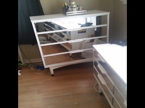 DIY mirrored dresser set makeover