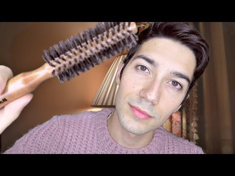 ASMR Hair Brushing for Sleep (Soft Spoken)