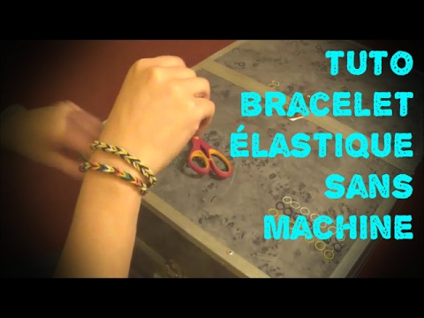 tuto bracelet simple en lastiques sans machine en fran ais youtube. Black Bedroom Furniture Sets. Home Design Ideas