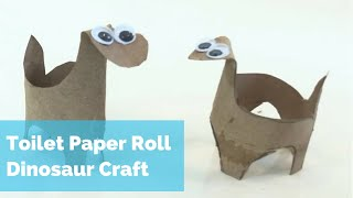 Toilet Paper Roll Dinosaur Craft - Simple Kids craft activity for toddlers, preschoolers and kinders