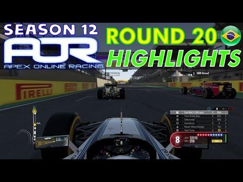 F1 2016 - AOR S12 Round 20 - Brazil Highlights
