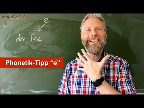 Deutsch lernen mit Flüchtlingen - Phonetik-Tipp -e