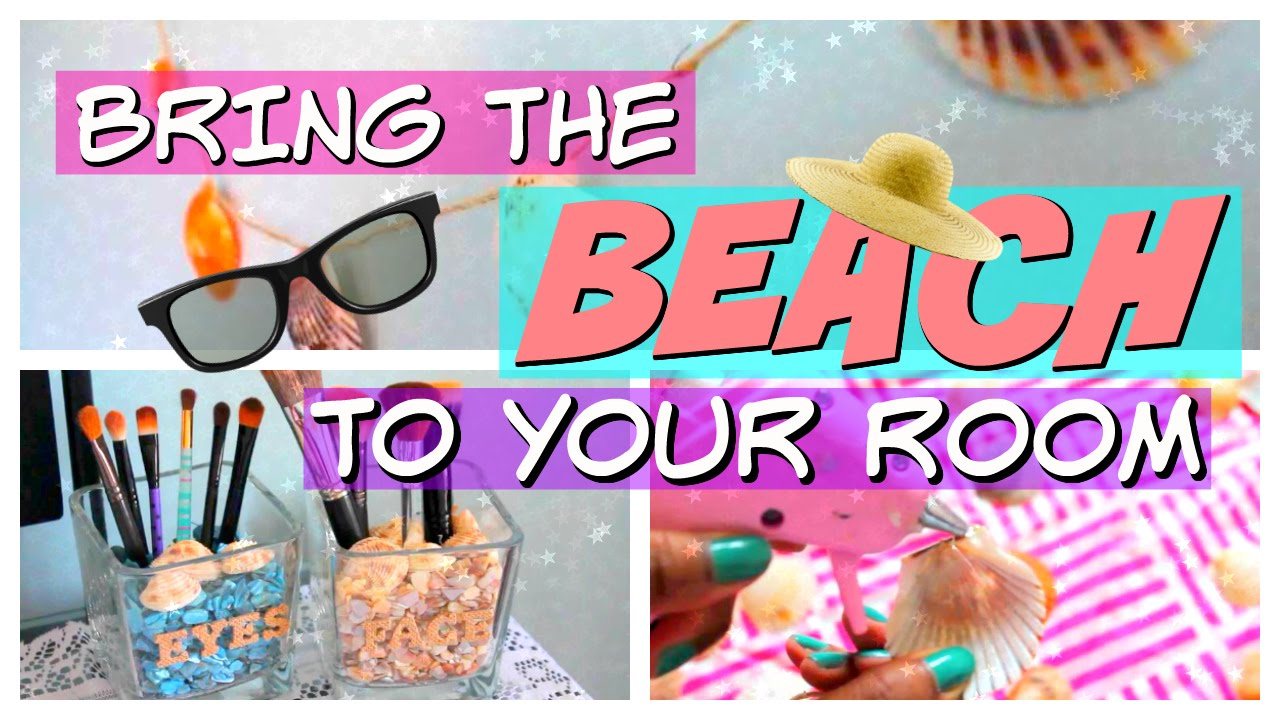 diy summer room decor 2016 beach themed youtube