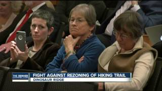 Jefferson County commissioners hold public meeting on proposed Dinosaur Ridge lot rezoning