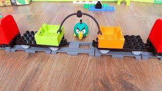 Машинки игрушки Лего Поезда мультики Город машинок 278 перетягивание. Мультики для детей про Машинки