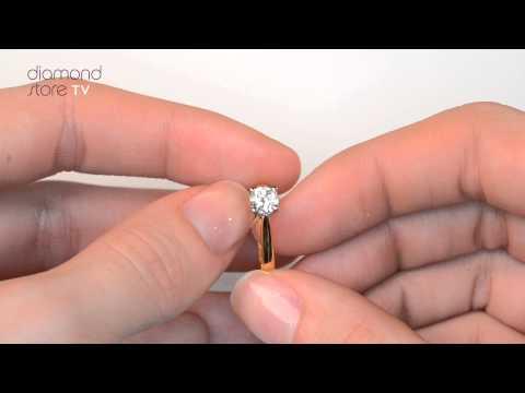 Diamond 0.50CT Petra 18K Gold Engagement Ring. https://pixlypro.com/ywDGmxH