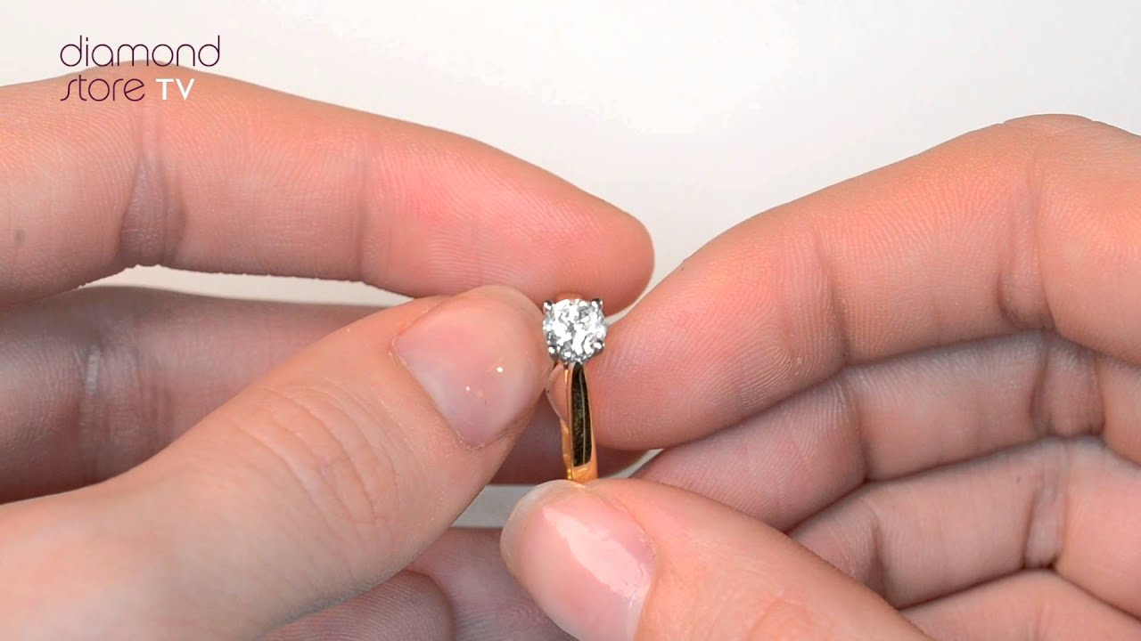 Diamond 0.50CT Petra 18K Gold Engagement Ring - UT26 72A - YouTube