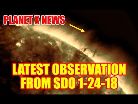PLANET X NEWS - LATEST PLANET X OBSERVATION FROM SDO 1-24-18
