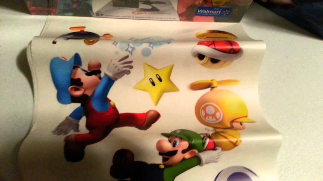 Super Mario Bros Peel and Stick Wall Decals Unboxing & Review (AMASF ...